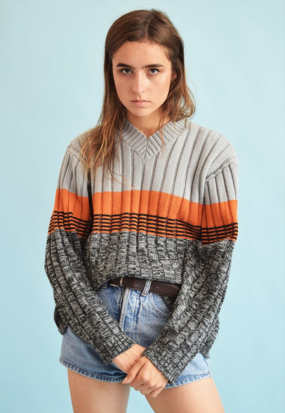 90's retro jazzy oversized knit Dads jumper