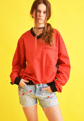 90's retro athleisure sports bomber windbreaker jacket top