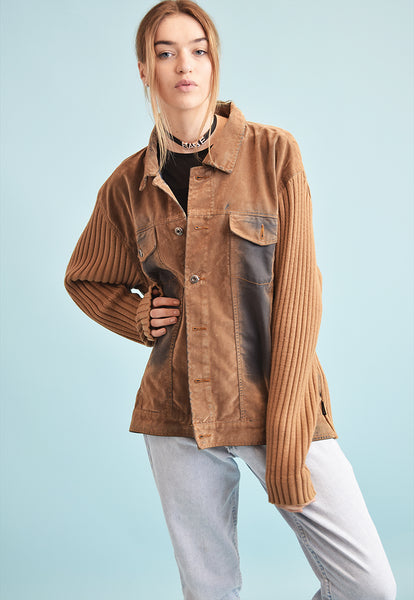 90's retro grunge knit oversized normcore teen jacket top