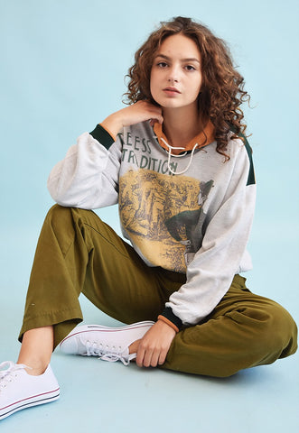 90's retro novelty slouchy athleisure sweatshirt jumper