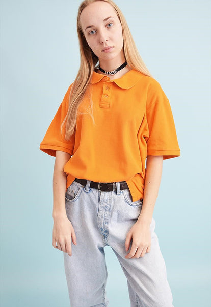90's retro athleisure varsity oversized polo t-shirt tee
