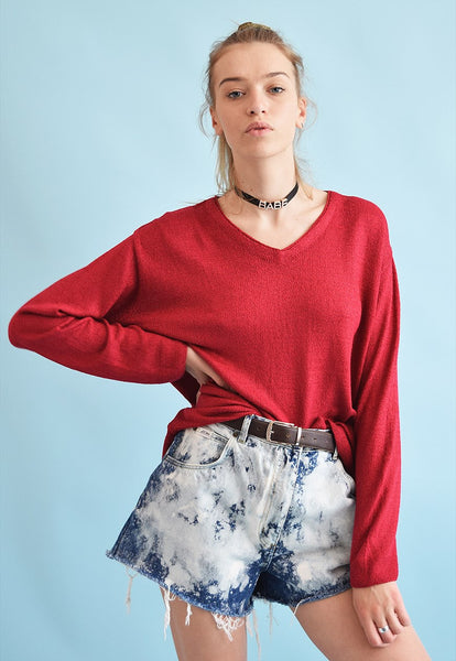 90's retro knit normcore grunge oversized jumper top