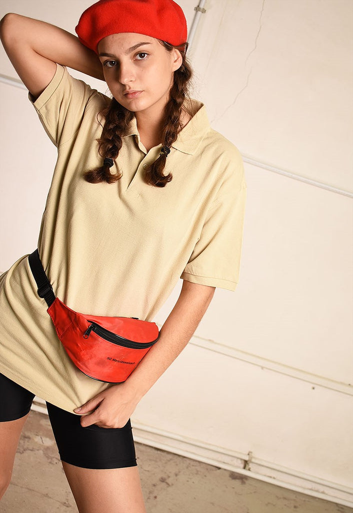 Y2K retro neutral athleisure oversized polo t-shirt tee