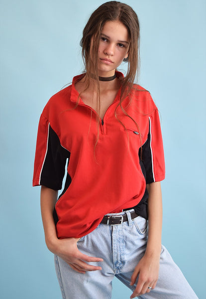 90's retro athleisure sports oversized t-shirt top