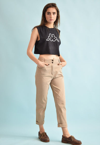 90's retro high waist neutral denim jeans