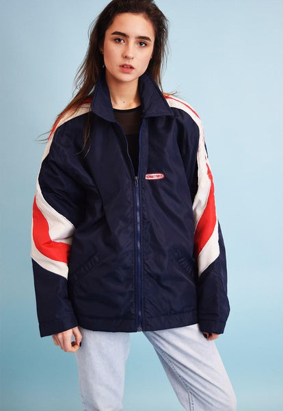 Vintage 90's retro athleisure sports puffer jacket top