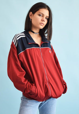 90's retro ADIDAS oversized sports tracksuit jacket top