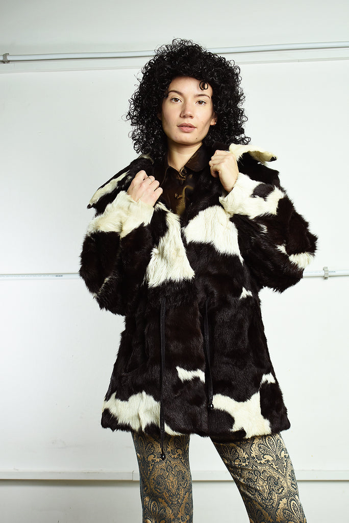 Stunning Vintage 70's Real Fur Retro jacket coat
