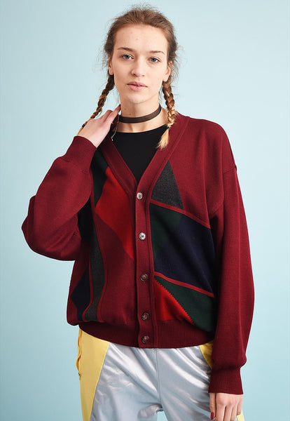 90's retro oversized slouchy Dads knit cardigan