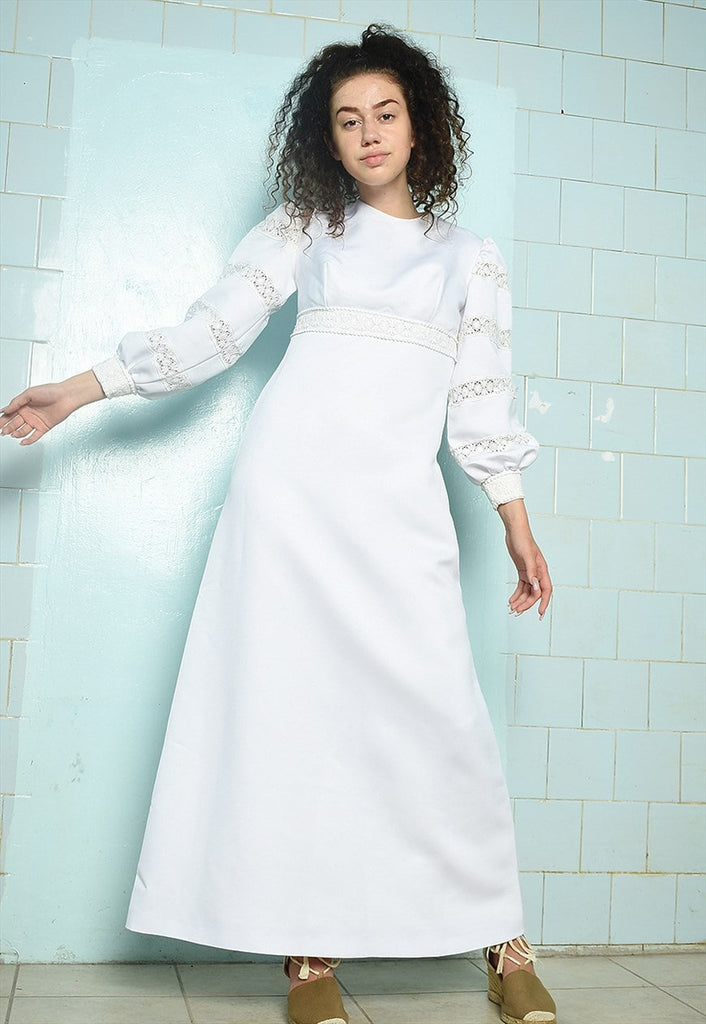 Revival vintage 70's Boho shabby chic retro wedding dress