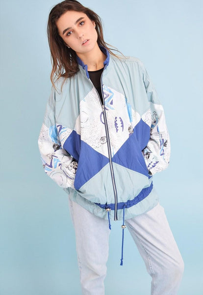 90's retro athleisure sports shell bomber jacket