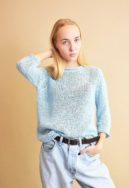 Lovely 90's retro minimalist pastel knitted jumper top