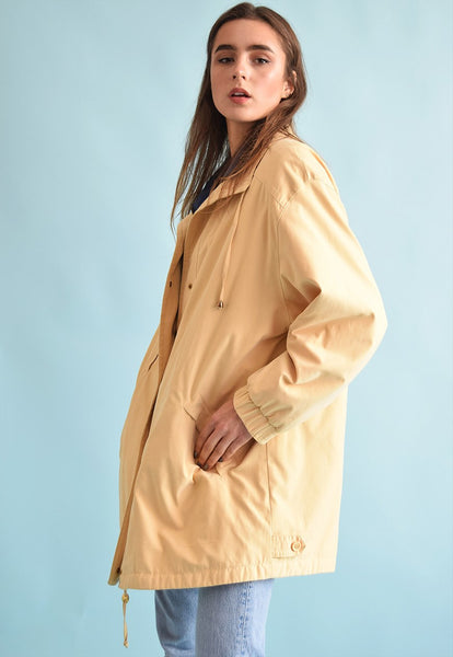 90's retro festival oversized pastel parka jacket top