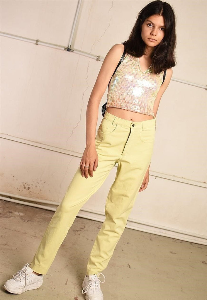 90's retro highwaisted pastel festival denim jeans