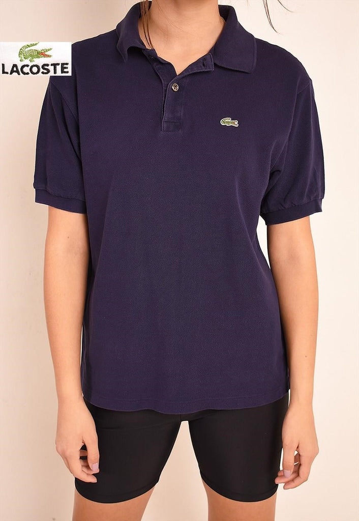 90's LACOSTE sports polo t-shirt tee top in navy blue
