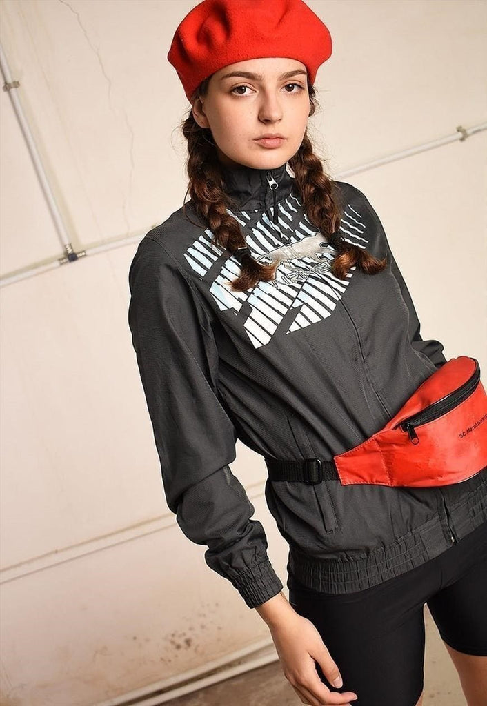 Y2K retro oversized athleisure sports jacket