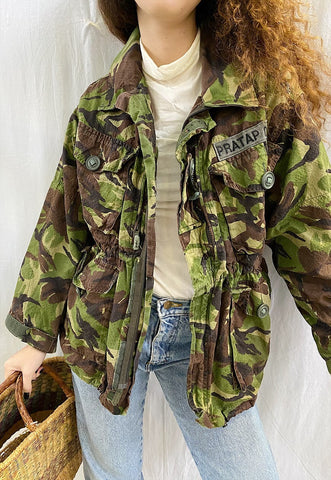 90's retro denim camo military khaki festival garm jacket