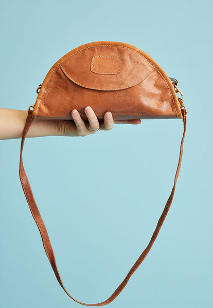 Cool vintage 90's faux leather petite shoulder bag