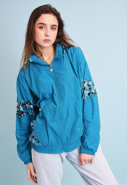 90's retro athleisure sports oversized bomber jacket top