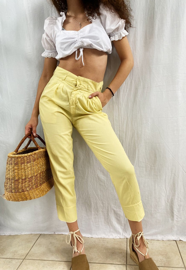 Vintage 80s Boheme Le Citron tapered trousers pants womens