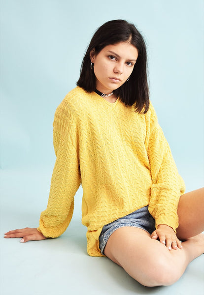 90's retro knitted Moms oversized jumper top