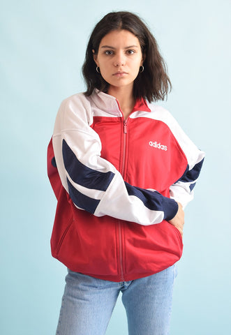 90's retro ADIDAS oversized sports tracksuit jacket