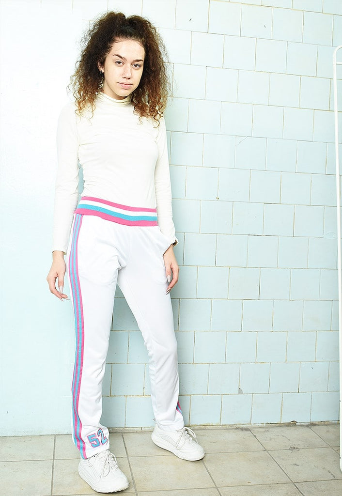 Vintage Y2K 00s BEYOND white joggers sweats pants trousers
