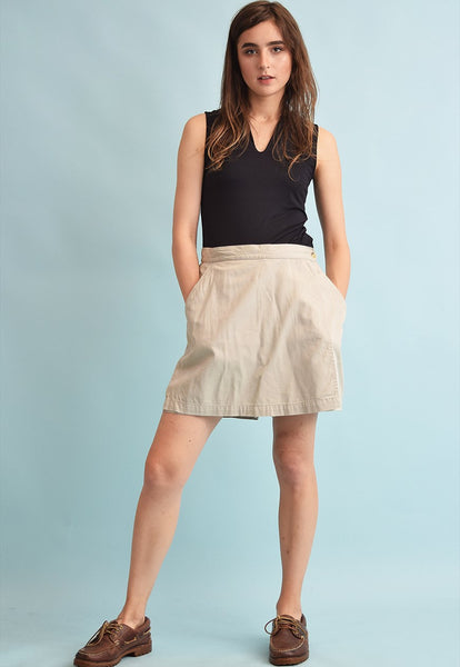 90's retro COLUMBIA denim neutral festival shorts skorts