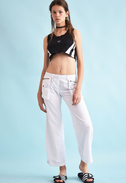 90's retro neutral thin straight trousers bottoms