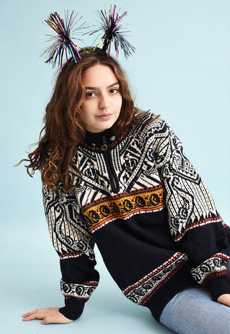90's retro Nordic Fair Isle woollen Christmas jumper