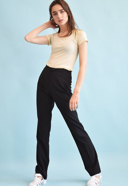 90's retro high waist tapered trousers