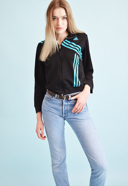 Vintage 80's retro ADIDAS sports tracksuit jacket top