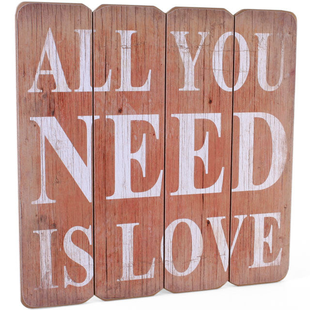 All you need is love plaque - trendy-gifts
