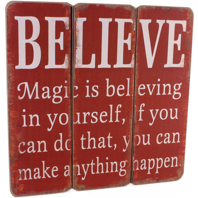Believe wall plaque