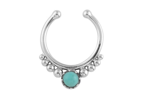 STERLING SILVER FAUX SEPTUM RINGS