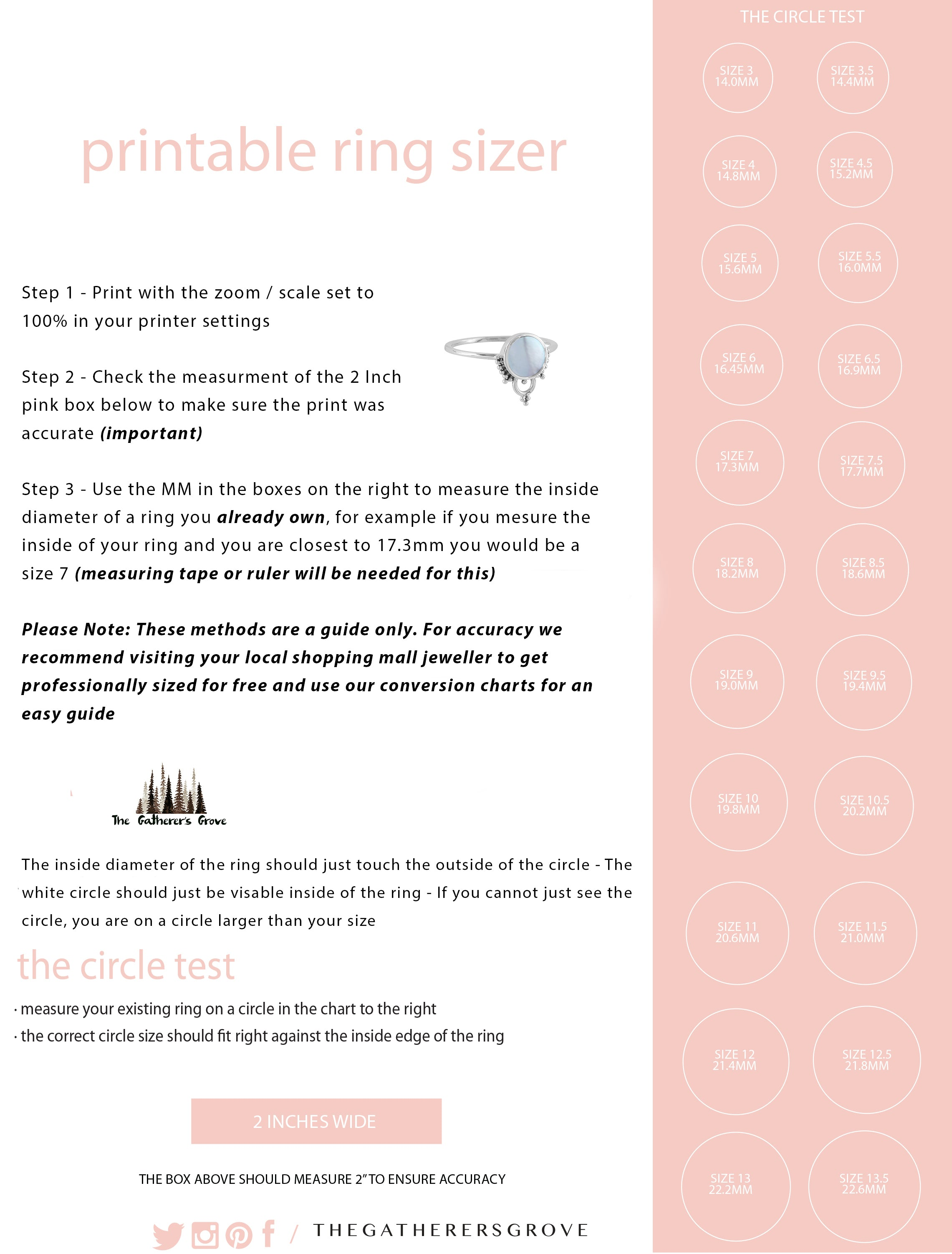 It's just a graphic of Printable Ring Size Strip for nine ring