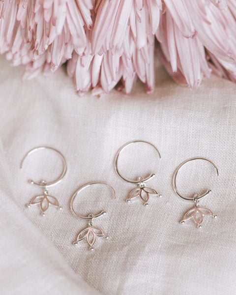 Sacred Flower Hoops