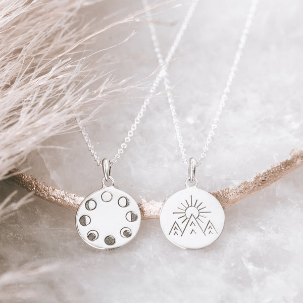 Under the Moon Phase Necklace