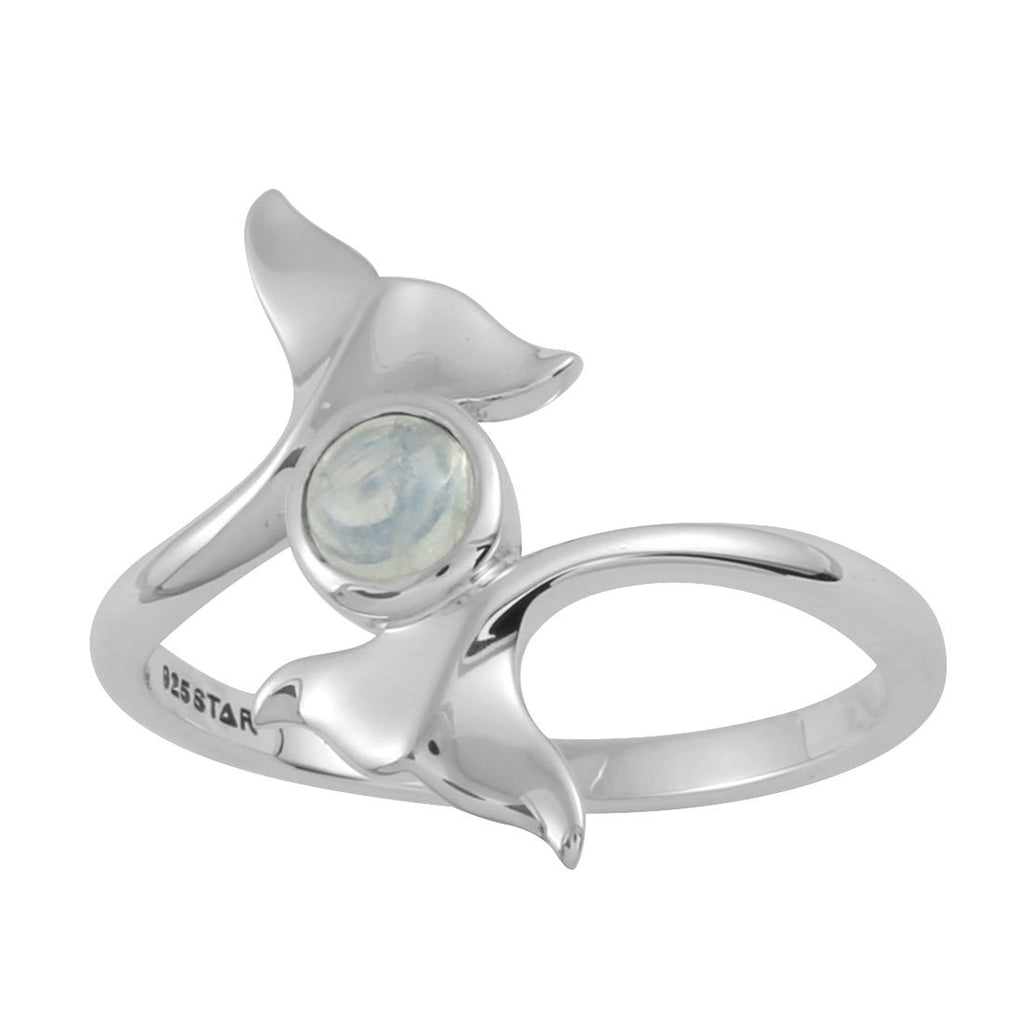 Dolphins Tail Moonstone Ring