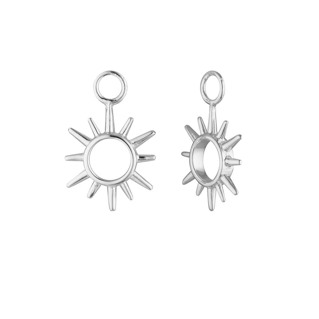Silver Open Sunshine Ear Charms