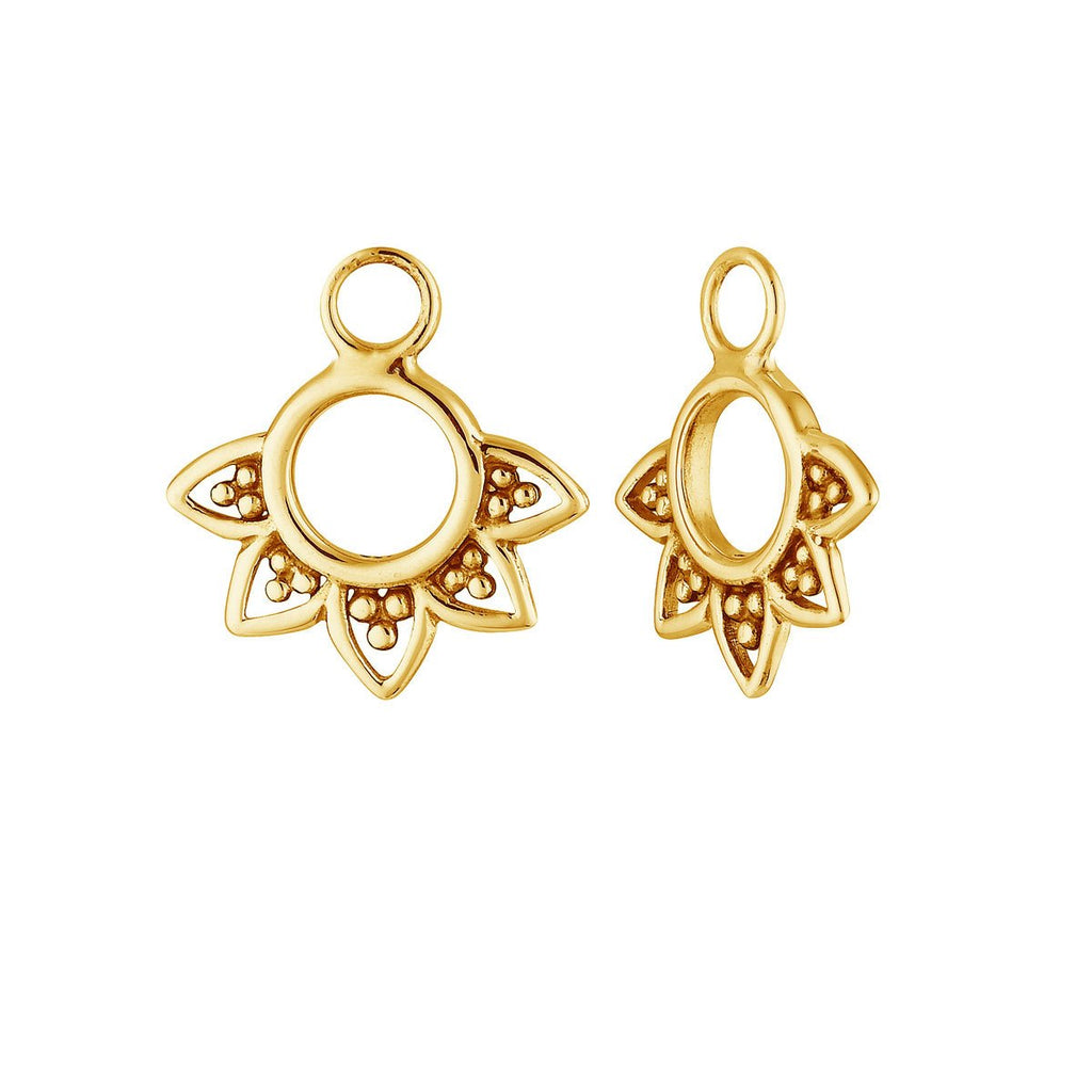 Gold Rising Sun Ear Charm