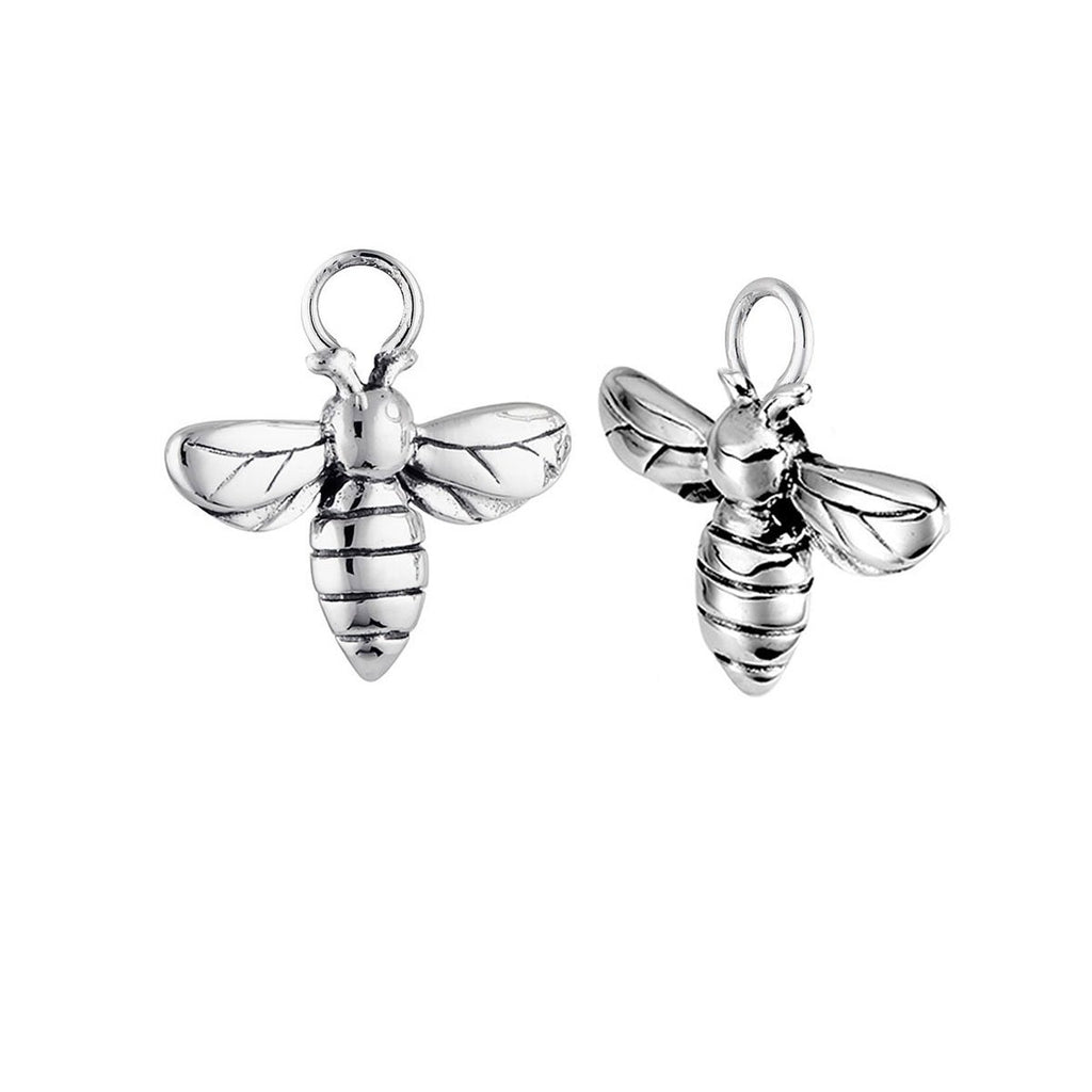 Silver Meant To Bee Ear Charms