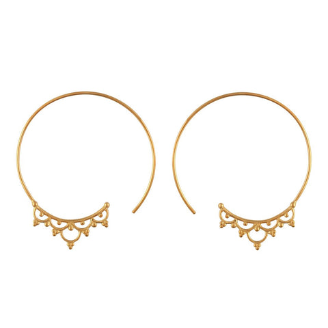 Setting Sun Hoops Gold