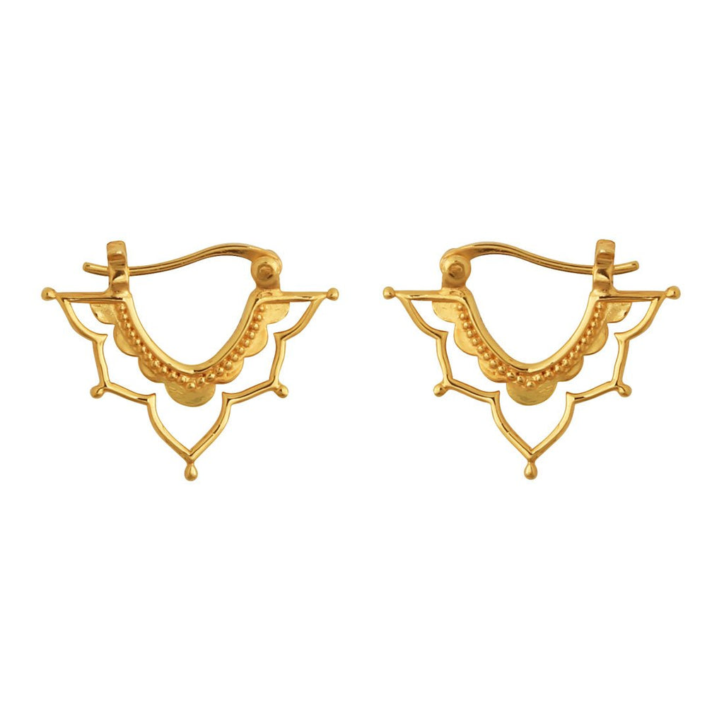 Gold Templum Sleeper Earrings