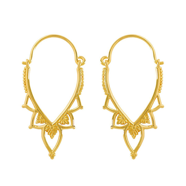 Golden Love Lace Hoops
