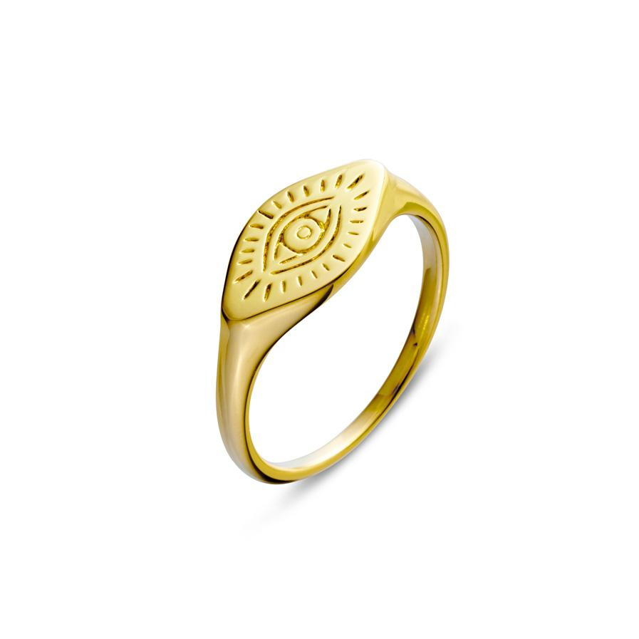 Gold All Seeing Eye Ring