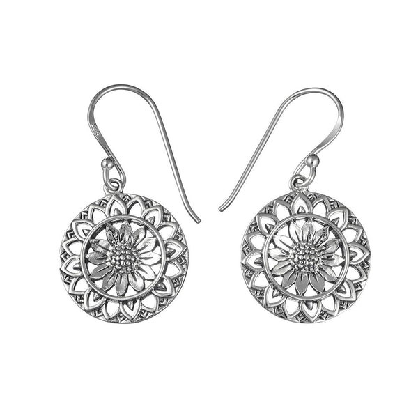 Sunflower Mantra Earrings