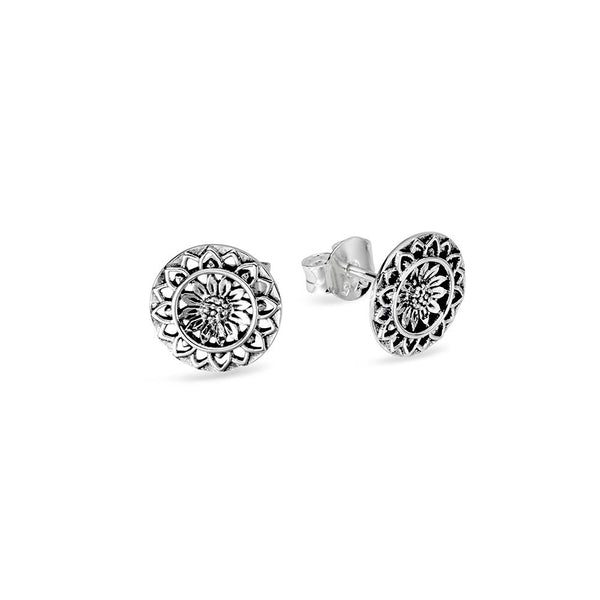 Sunflower Mantra Studs