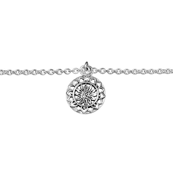 Sunflower Mantra Anklet