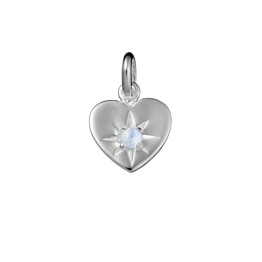 Enchanted Heart Moonstone Necklace Charm